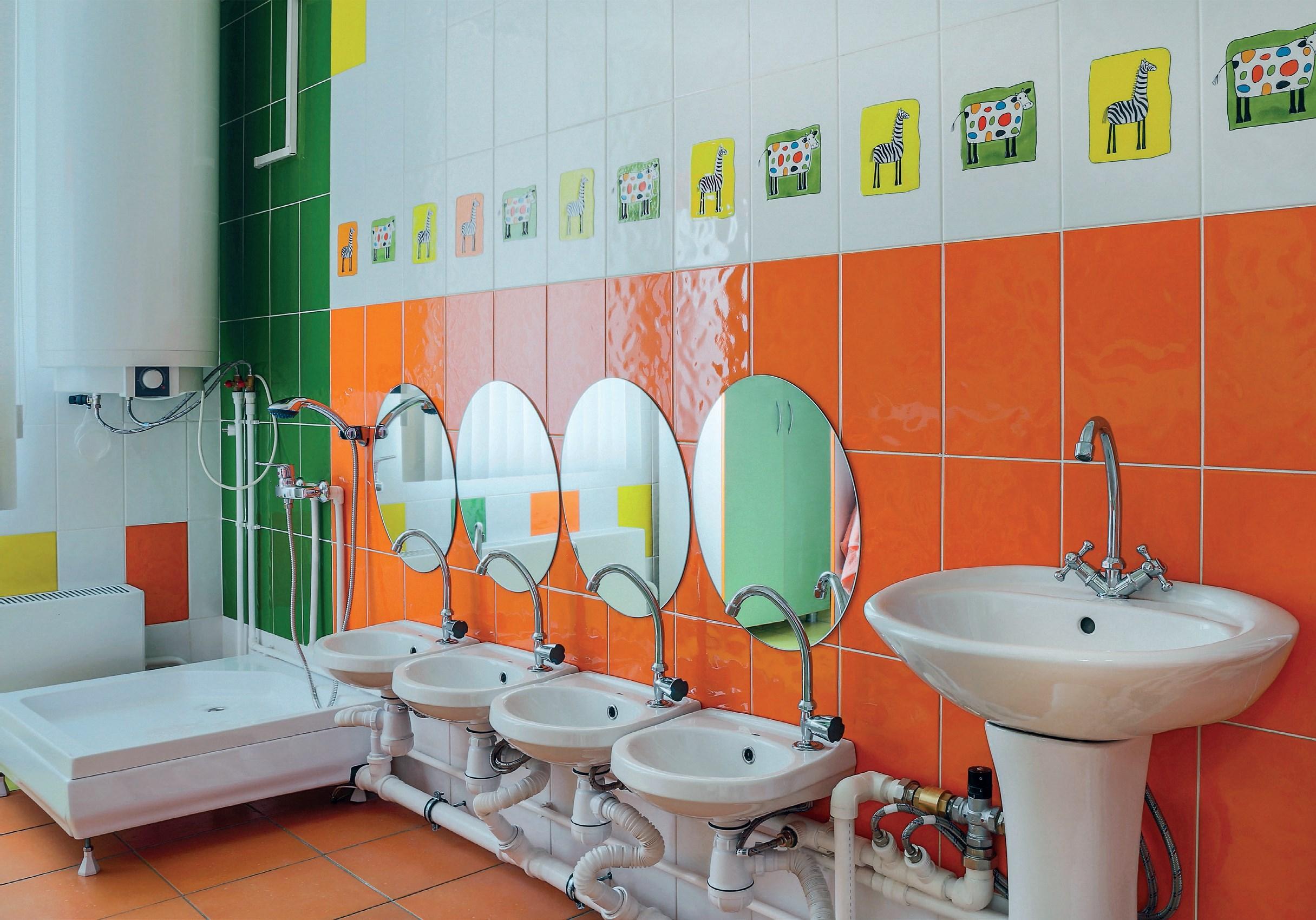 fot. Fotolia.com Czysta łazienka w placówkach opieki nad dziećmi2
